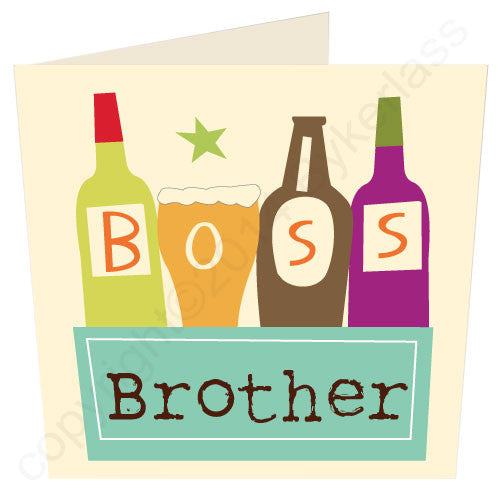 Boss Brother - Scouse Gifts and Cards by Wotmalike.