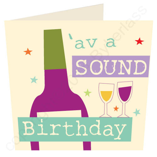 'Av A Sound Birthday- Scouse Stuff Card