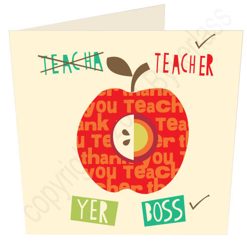 To Me Teecha ScouseThank You Teacher Card