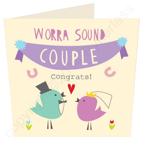 Worra Sound Couple Scouse Wedding Card (SS8)