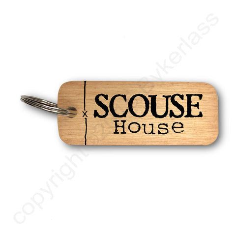 Scouse House Rustic Wooden Keyring - RWKR1