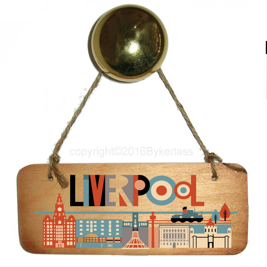 Liverpool City Bright Scouse Wooden Sign Scouse Gifts for everyone