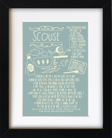Scouse Recipe Mounted Print     (SSP4)