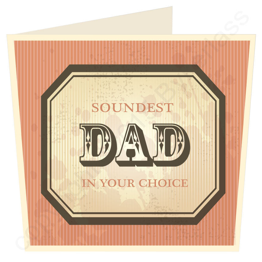 Soundest Dad in ...... Your Choice Personalised LARGE Card