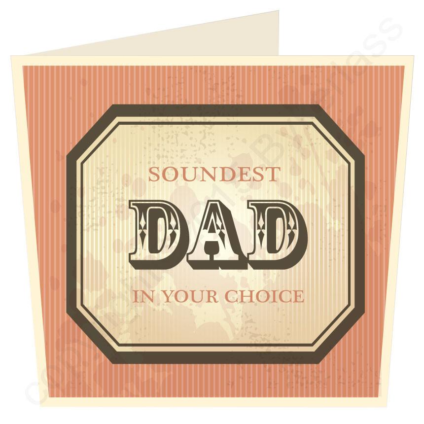 Soundest Dad in ...... Your Choice LARGE Scouse Father's Day Card