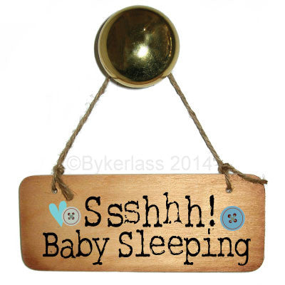 Ssshhhh Baby Sleeping (Boy) Rustic Wooden Sign