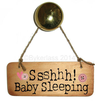 Ssshhhh Baby Sleeping (Girl) Rustic Wooden Sign