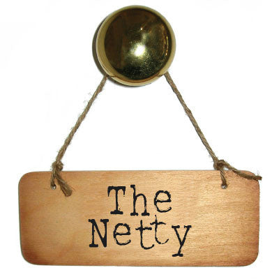 The Netty Rustic North East Wooden Sign -