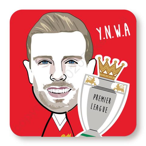 Jordan Henderson Cork Backed Coaster    (CBJH)