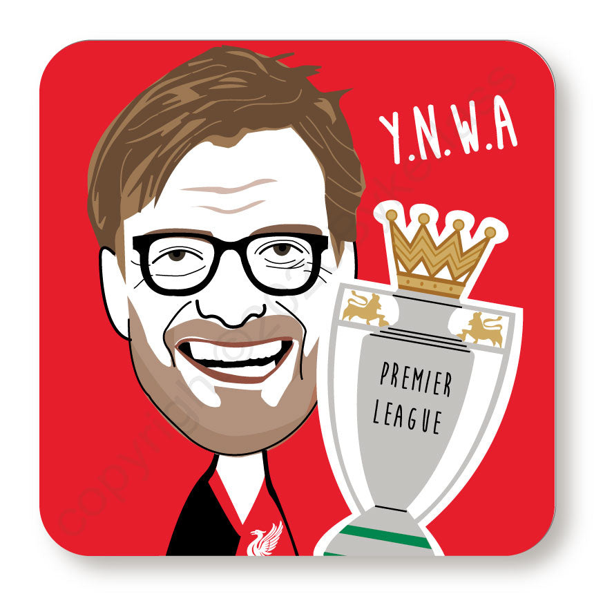 Jurgen Klopp Cork Backed Coaster by Wotmalike