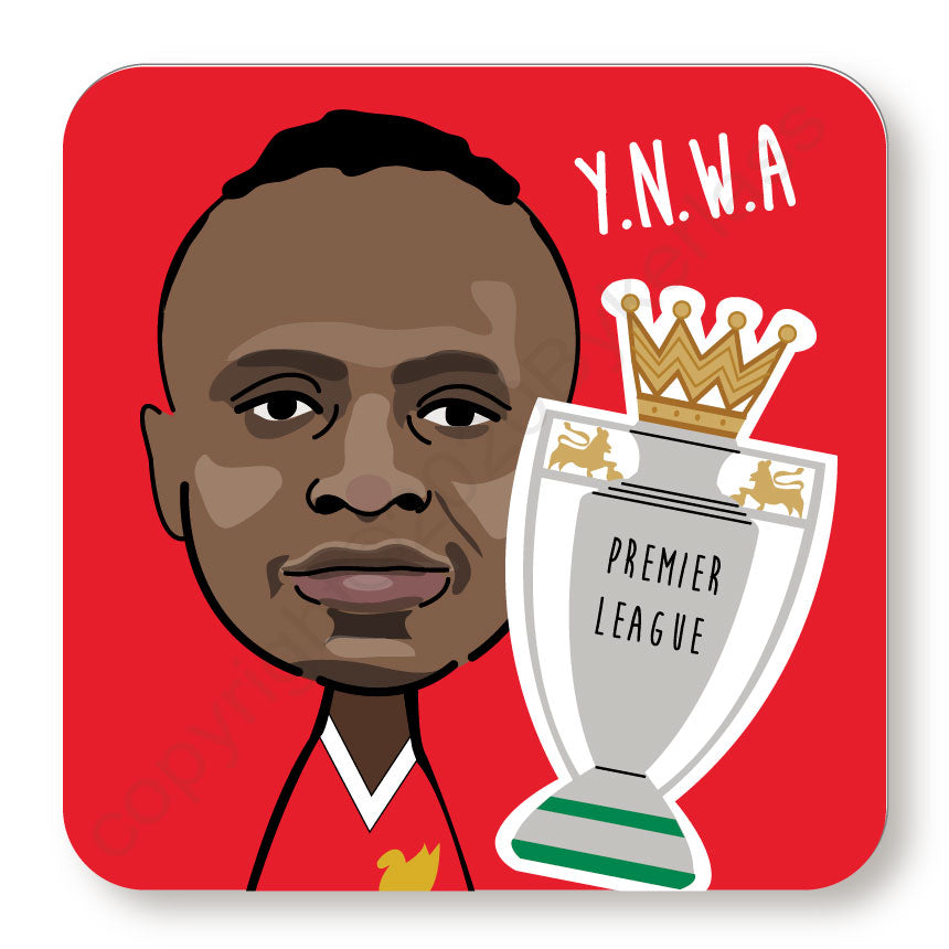 Sadio Mané Cork Backed Coaster by Wotmalike