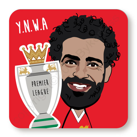 Mo Salah Cork Backed Coaster    (CBMS)