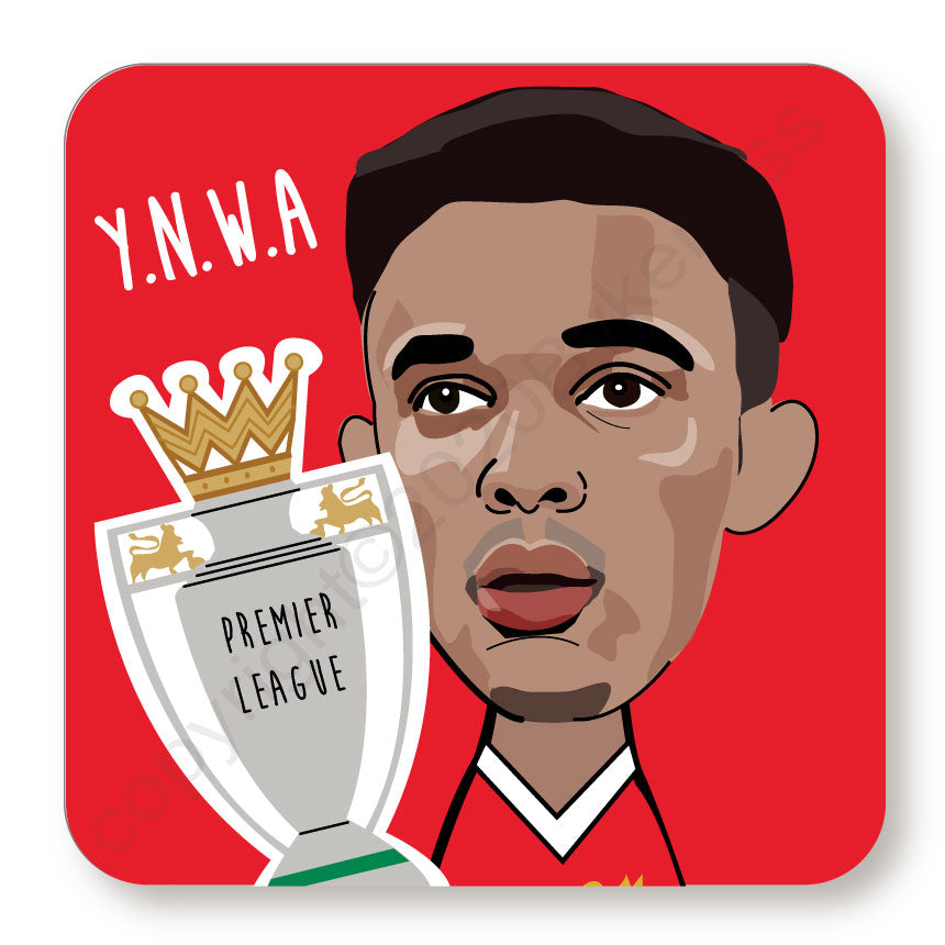 Trent Alexander Arnold Cork Backed Coaster by Wotmalike