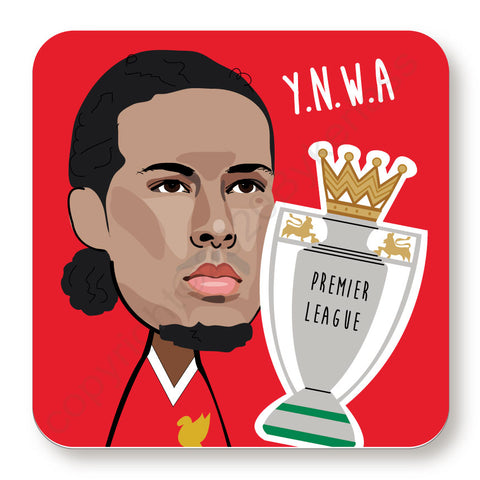 Virgil Van Dijk Cork Backed Coaster    (CBVVD)