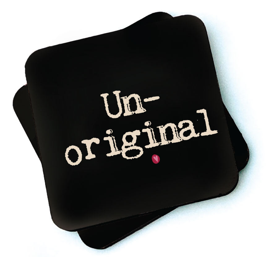 Un-original  Dark Collection Wooden Coaster by Wotmalike