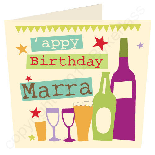 Appy Birthday Marra - Cumbrian Birthday Card