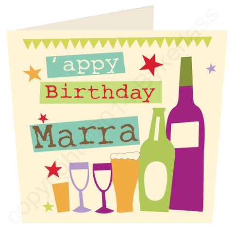 Appy Birthday Marra - Cumbrian Birthday Card (WF18)