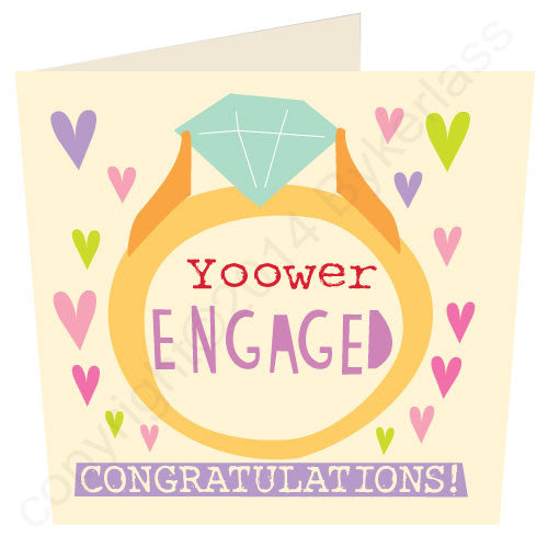Yoower Engaged Congratulations - Cumbrian Engagement Card