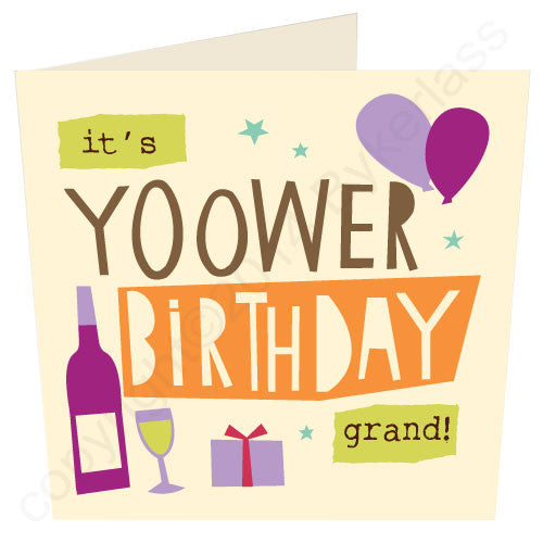 It's Yoower Birthday - Cumbrian Birthday Card