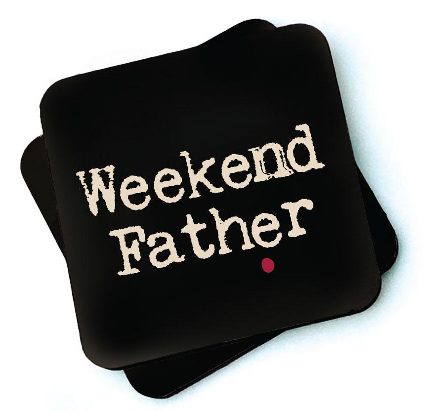 Weekend Father -  Dark Collection Wooden Coaster by Wotmalike