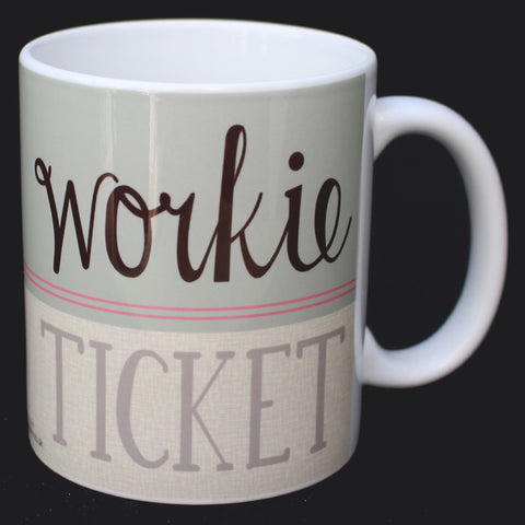 Workie Ticket North East Speak Mug (NESM7)