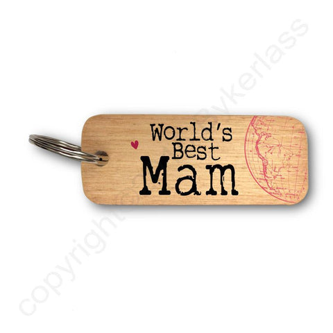Worlds Best Mam  Keyring - Mothers Day Gift - RWKR1