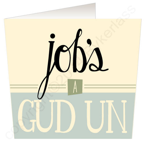 Jobs A Gud Un Yorkshire Speak Card Yorkshire Gifts