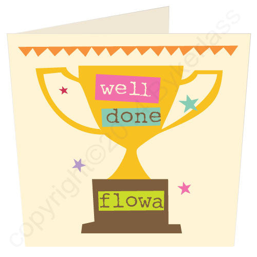Well Done Flowa - Yorkshire Congratulations Card