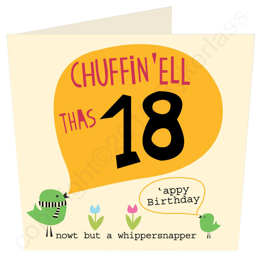 Chuffin 'Ell Thas 18 Yorkshire Card
