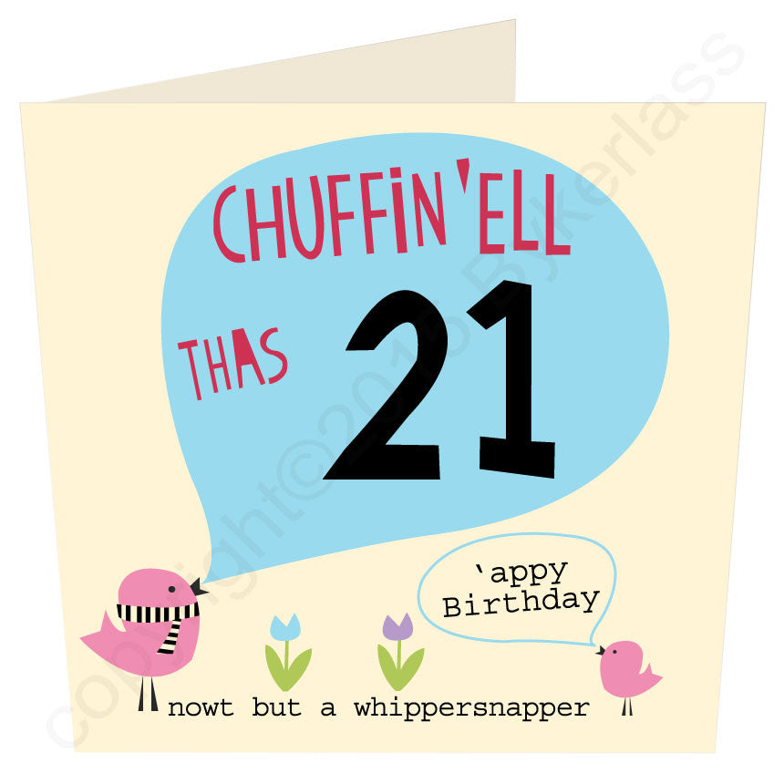 Chuffin 'Ell Thas 21 Yorkshire Card