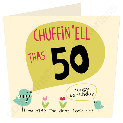 Chuffin 'Ell Thas 50 Yorkshire Card  (YY28)