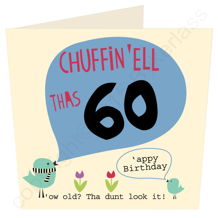 Chuffin 'Ell Thas 60 Yorkshire Card