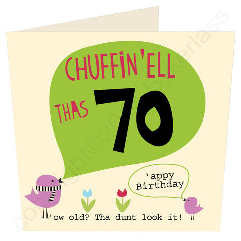 Chuffin 'Ell Thas 70 Yorkshire Card  (YY31)
