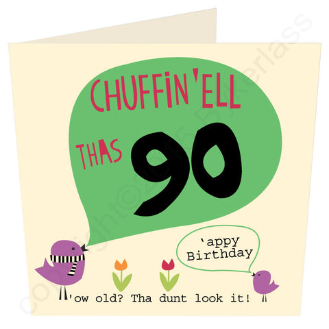 Chuffin 'Ell Thas 90 Yorkshire Card  (YY33)