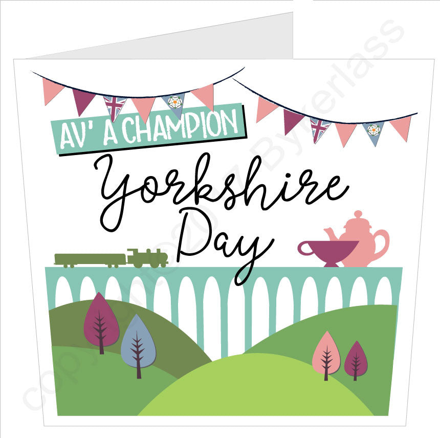 Yorkshire Day - Large Yorkshire Card by Wotmalike