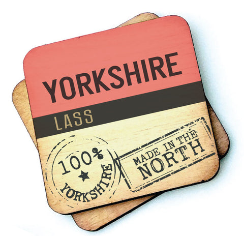 Yorkshire Lass - Rustic Wooden Coaster - RWC1