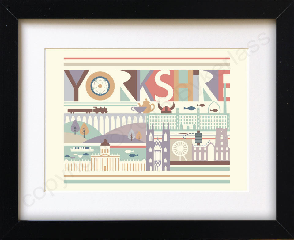 Yorkshire Scape Print Mounted Print
