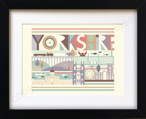 Yorkshire Scape Print Mounted Print (YYP3)