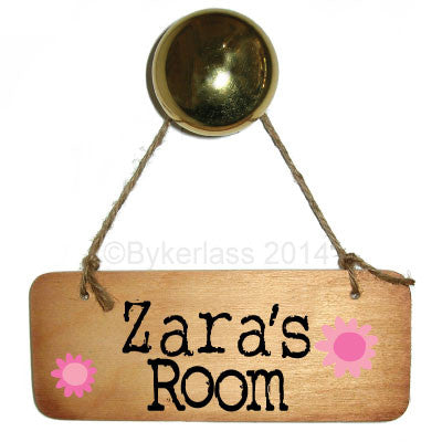 Younger Girl Personalised Rustic Wooden Sign