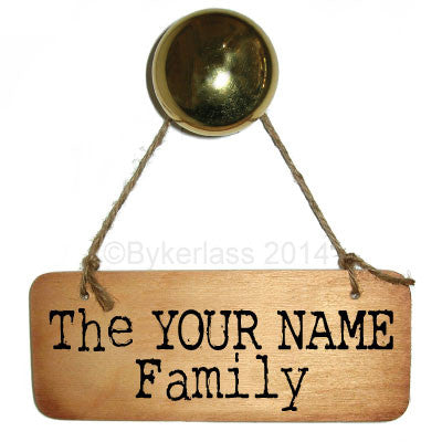 Rustic Bespoke Family Name Sign - any family name can be added