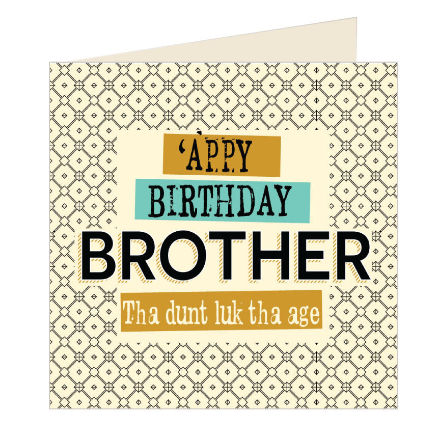 'Appy Birthday Brother Yorkshire Card by Wotmalike