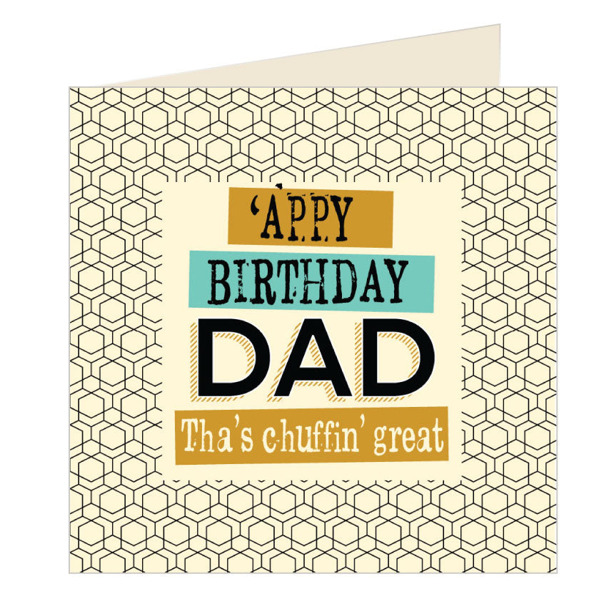 'Appy Birthday Dad Yorkshire Card by Wotmalike