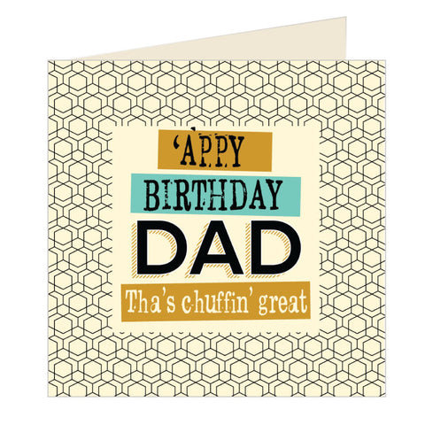'Appy Birthday Dad Yorkshire Card (YQ12)