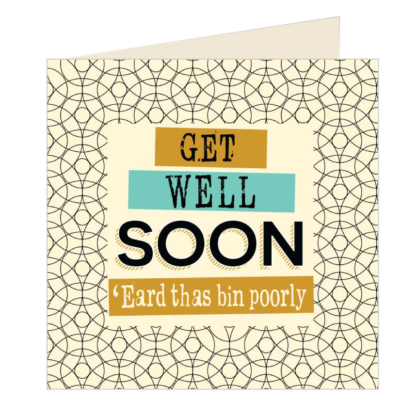 Get Well Soon Yorkshire Card by Wotmalike