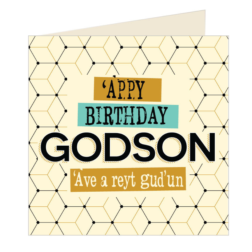 'Appy Birthday Godson - Yorkshire Card