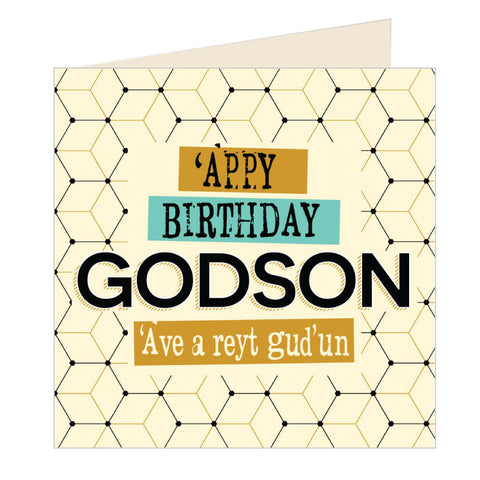 'Appy Birthday Godson - Yorkshire Card (YQ15)