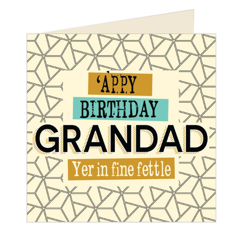 'Appy Birthday Grandad - Yorkshire Card (YQ16)