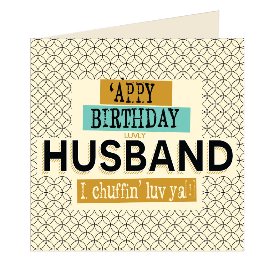 'Appy Birthday Husband - Yorkshire Card (YQ17)