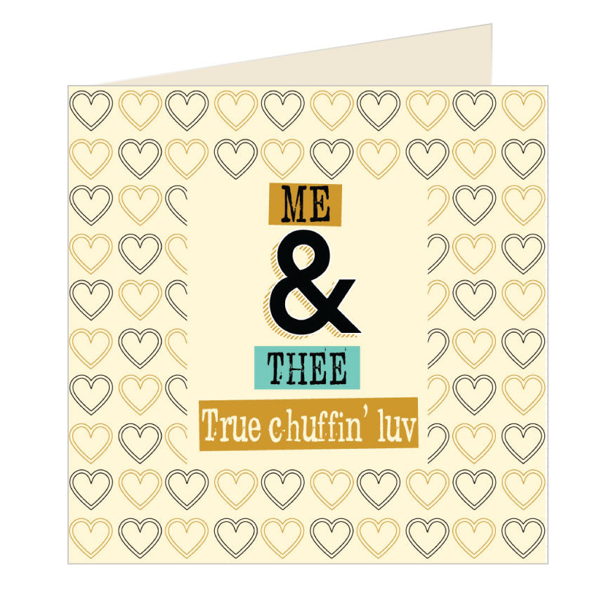 Me and Thee - True Chuffin Luv - Yorkshire Card by Wotmalike