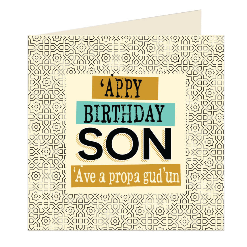 'Appy Birthday Son - Yorkshire Card by Wotmalike
